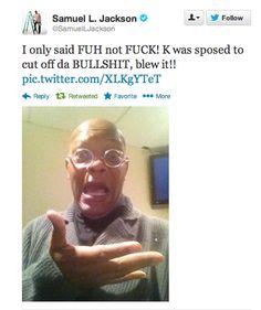 Samuel L. Jackson - Tweet following the SNL skit on 12/15/2012