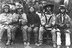 Five First Nations Men, British Columbia,..Circa 1860