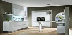 Licht keukenmodel met rechtlijnig en puristisch ontwerp