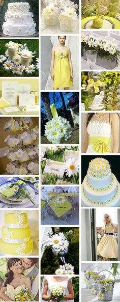 Daisy inspired wedding theme