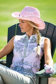 Daily-Sports-2016-Kollektion-FJ-Sommer-Tabitha_380x570 Golf Outfit, Ladies Golf, Ss16, Lady, Cowboy Hats, Polo, Clothes For Women, Golf Apparel, Sports