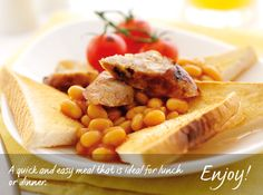 Sausages and Beans on Toast Recipe from Warburtons Beans On Toast, Bakery Recipes, Baked Beans, Sausages, Sandwich Recipes, Toaster, Cherry Tomatoes, Chana Masala, Perfect Fit