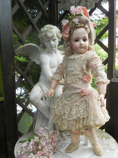 ~~~ Most Beautiful French Muslin Dress with Bonnet ~~~ from whendreamscometrue on Ruby Lane