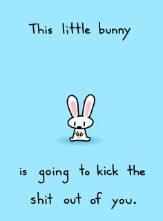 This Little Bunny is going to kick the shit out of you - Sebastien Millon / Art & Illustration