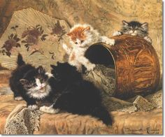 Playful Kittens Henriette Ronner-Knip Private Collection