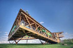 belvedere for koblenz bundesgartenschau by dethier architectures via designboom