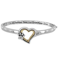A Life Without Paws Heart Bracelet at The Animal Rescue Site