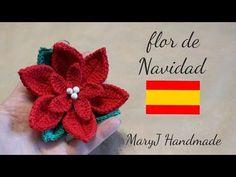 How to crochet a poinsettia Crochet Christmas Decorations, Christmas Crochet Patterns, Christmas Knitting, Christmas Crafts, Thread Crochet, Crochet Doilies, Crochet Flowers, Poinsettia Plant, Christmas Poinsettia