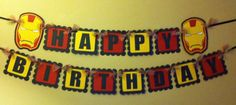 Iron Man Happy Birthday Banner by PaperPiecingDreams on Etsy