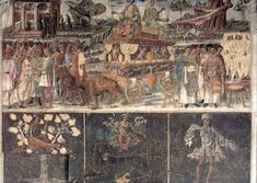 Cosimo Tura or Cosm Tura(c. 1430 – Allegory of July Fresco, width: 400 cm Hall of the Months, Palazzo Schifanoia, Ferrara, Italy Palazzo, Hans Holbein, Roman Gods, Web Gallery, Peter Paul Rubens, European Paintings, Old Master, 15th Century, Art Boards