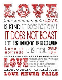 Love is Patient - Free Printable