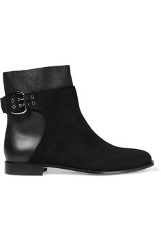 JIMMY CHOO Major suede and leather ankle boots  €477.00 https://www.net-a-porter.com/product/733722