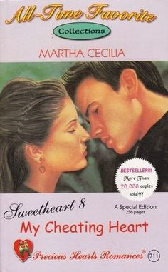 Rating: My Cheating Heart (Sweetheart, by Martha Cecilia, 4 Sweets; Challenges: Book for Book for Off The Shelf! Book for Pocketbook Free Romance Books, Free Books To Read, Novels To Read, Romance Novels, Wattpad Books, Wattpad Stories, Online Novels, Free Novels, Wattpad Romance