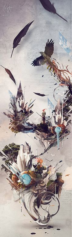Poster : hometown - Art print and design detail item Art Et Design, Graphic Design, Ui Design, Birdhouse In Your Soul, Expressive Art, Wallpaper Free Download, Illustrations And Posters, S Pic, Art Direction