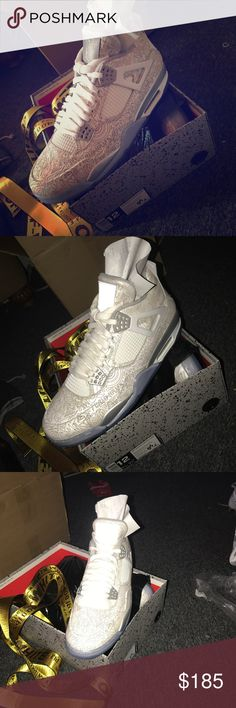 Jordan Laser 4's DS pair of Jordan 4's Shoes Sneakers