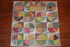 circle quilt vintage fabrics