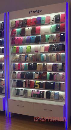 Mobile Shop Design, Iphone Shop, Phone Accesories, Showroom Interior Design, House Ceiling Design, Phone Store, Corporate Office Design, Accessories Display, Shop Interiors