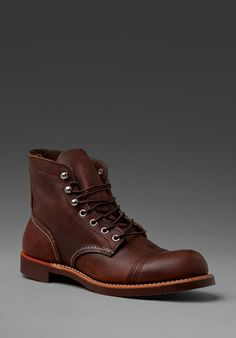"""Red Wing Shoes Iron Ranger 6"""" Iron Ranger in Chocolate"""