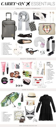 Carry-On Essentials for Long-Haul Flights – travel outfit plane long flights Travelling Tips, Europe Travel Tips, Packing Tips For Travel, New Travel, Travel Style, Travel Hacks, Packing Lists, Travel Plane, Travel Fashion