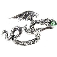 Starchaser Dragon Ring by Alchemy Gothic ($22) ❤ liked on Polyvore featuring jewelry, rings, goth rings, gothic jewellery, star jewelry, gothic jewelry and goth jewelry