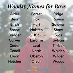 One part cottagecore, one part cowboy — woodsy names for boys are the next big thing. Click through to read all about the incoming wave of rugged, romantic, nature-inspired boy names. #woodsynames #boynames #babynames #uniquenames Modern Names, Unique Names, Cowboy Names, Spiritual Names, Romantic Nature, Cool Baby Names, Classic Names, The Next Big Thing, Prefixes