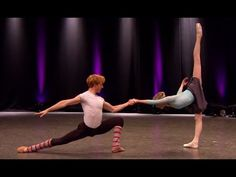 Sarah Lamb and Steven McRae rehearse 'Rubies' from Jewels (The Royal Bal...