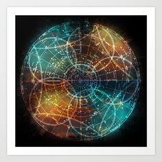 Star Map Art Print graphic design