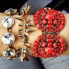 Sparkly stack of bracelets by Stella Dot. www.stelladot.com/sarahtaliaferro