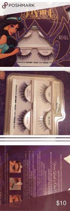 Disney Jasmine false eyelashes New in box Disney Makeup False Eyelashes