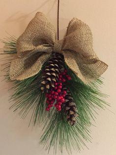 Christmas Pine Cones, Christmas Swags, Rustic Christmas, Christmas Berries, Christmas Quotes, Christmas Pictures, Christmas Snowman, Christmas Christmas, Christmas Wedding