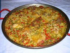 "Paella de pollastre/ Paella de pollo/ Chicken ""paella""/ ""Paella"" de frango"