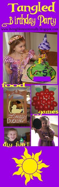 Tangled Birthday Party - This is such a cute clever birthday party theme for disney princess fans
