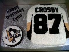 Yes its a penguin Hockey Birthday, 9th Birthday, Birthday Ideas, Happy Birthday, Cakes And More, Penguin, Party Ideas, Foods, Golf Theme