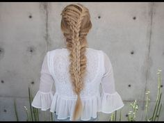 youtube: @confessions of a hairstylist. corset stacked mermaid braid. #hair #video