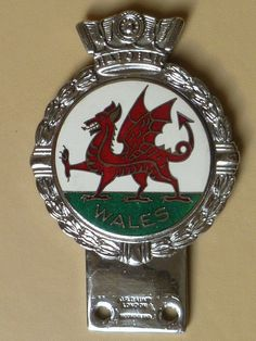 VINTAGE WALES CAR BADGE/EMBLEM J.R.GAUNT