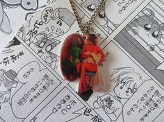 Zombie Pin Up Girl Necklace - Rockabilly Sailor Jerry Navy Tattoo Heart Leopard Print Sexy Psychobilly on Etsy, $19.00