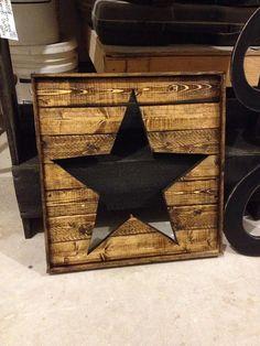 "Large Wooden star cutout measures 16.5""x16.5""  in dark walnut wedding decor/home decor/ pottery barn inspired"