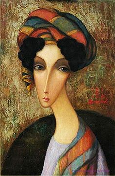Sergey Ivanovich Smirnov The Russian artist Sergey Ivanovich Smirnov was born in in a border area with Russia the Pacific Ocean known as the Kamchatka peninsula. Modern Art, Contemporary Art, Abstract Faces, Painting People, Russian Art, Portrait Art, Portraits, Whimsical Art, Face Art