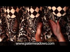 Cuff-Top Valance Sewing Pattern..from Pate Meadows Designs...(I particularly like the look of hanging on tie-back knobs...