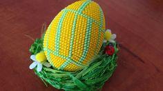 Návod - Háčkované korálkové vejce 6cm 1 Díl - Crochet bead egg 6cm part 1