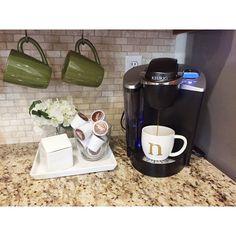 We love Instagram user nellyfriedel's Keurig coffee corner! Happy Brewing!