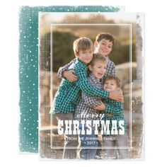 Country Western Grunge Merry Christmas Card - merry christmas diy xmas present gift idea family holidays