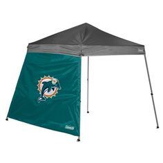 NFL Miami Dolphins 10 x 10-Feet Slant Leg Canopy Wall by Licensed Products. Save 6 Off!. $23.47. Fits 10'X10' Shelter. Offers Protection from the Elements. Features Full Color Team Logo. 10' X 10' Slant Leg Canopy Wall. Show your team pride and block out the elements with this Coleman branded shelter wall.