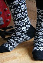Toxic Socks - Knitting Patterns by Camille Chang - for Flora Intarsia Knitting, Knitting Socks, Hand Knitting, Knitting Patterns, Crochet Patterns, Patterned Socks, Camille, Fair Isle Knitting, Knit Picks