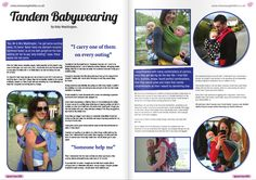 Tandem babywearing - This article can be found in our launch issue