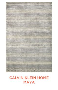 Rug Trend from Elizabeth Lawson Design: Color Blocked - Striped Rugs : Calvin Klein Home Maya