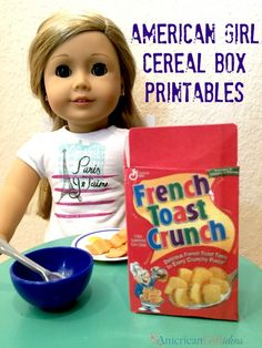 American Girl Cereal Box Printables