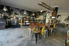 vintage industrial Table cafe bar bench Counter | eBay