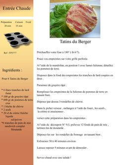 Tatin du Berger Tupperware, Panini Sandwiches, Cuisine Diverse, English Food, Cantaloupe, Entrees, Smoothies, Food And Drink, Cooking Recipes