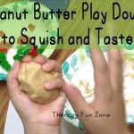 Delicious Sensory Peanut Butter Play Dough